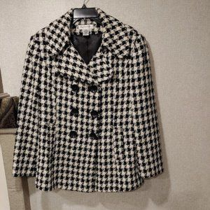 Preston & York Wool Blend Hounds Tooth Coat